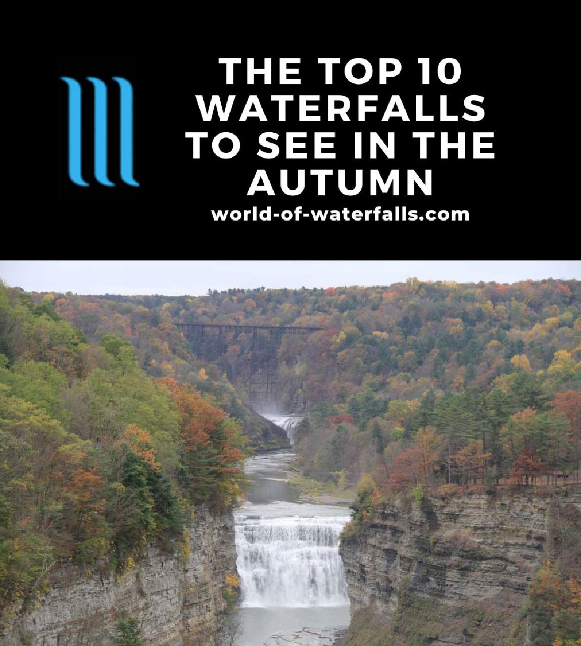 The Top 10 Waterfalls of see in the Autumn