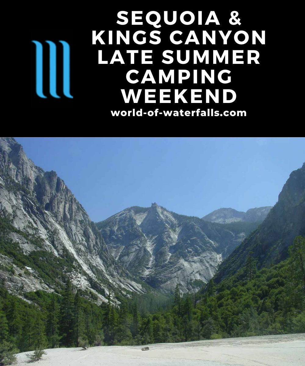 Sequoia and Kings Canyon Late Summer Camping Weekend Itinerary