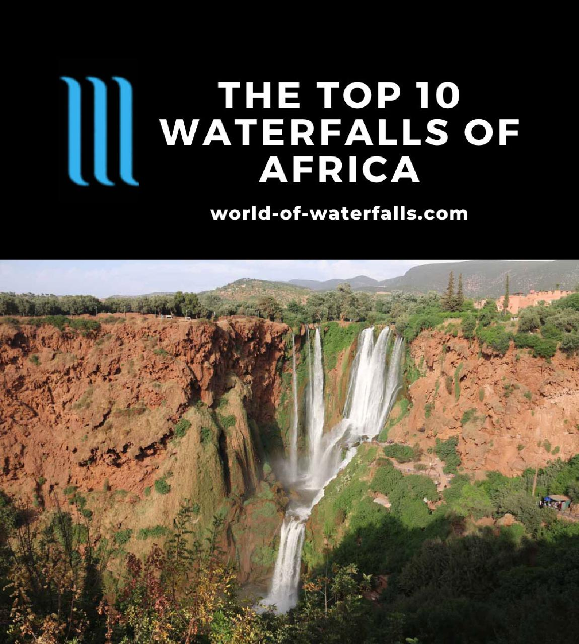 The Top 10 Waterfalls of Africa