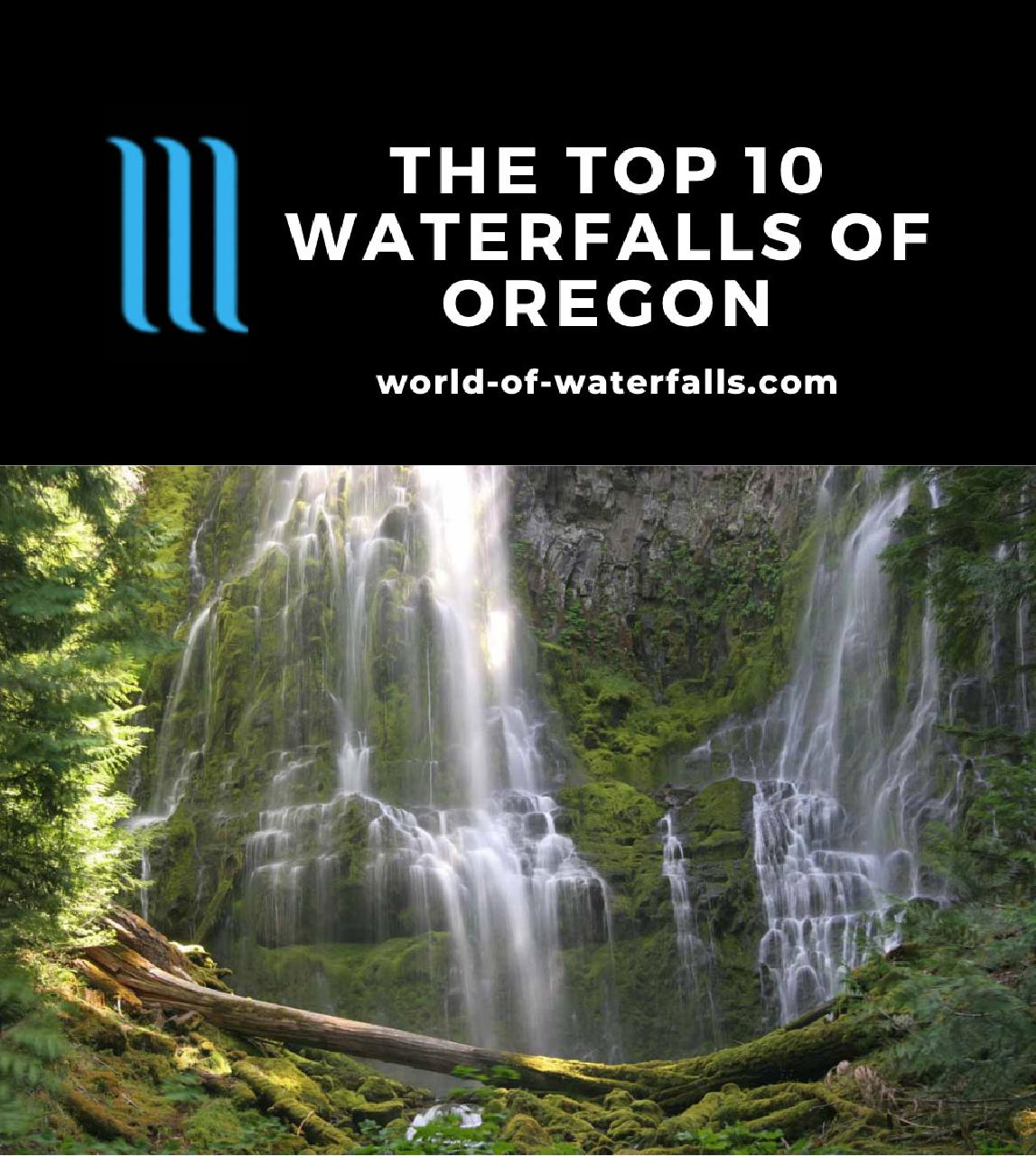 The Top 10 Waterfalls of Oregon