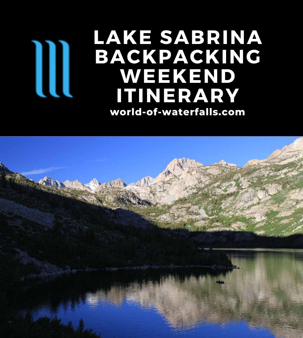Lake Sabrina Backpacking Weekend Itinerary