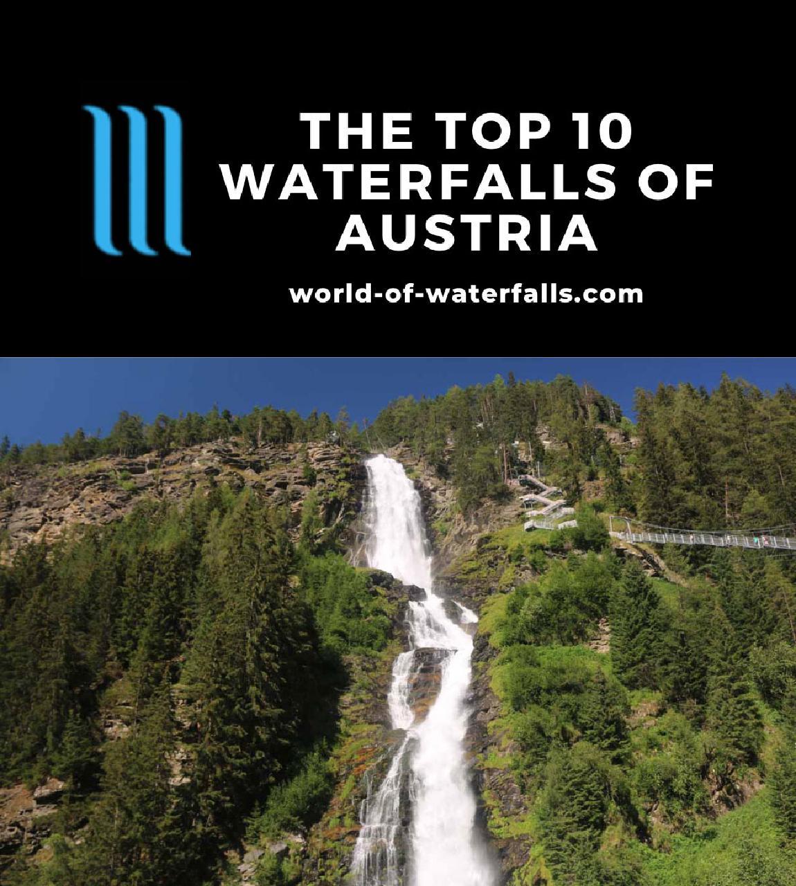 The Top 10 Waterfalls of Austria