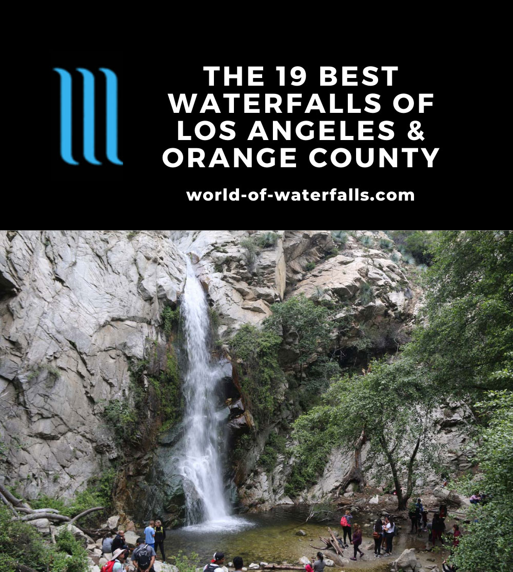 Sturtevant Falls - one of Los Angeles County's most popular waterfall hikes