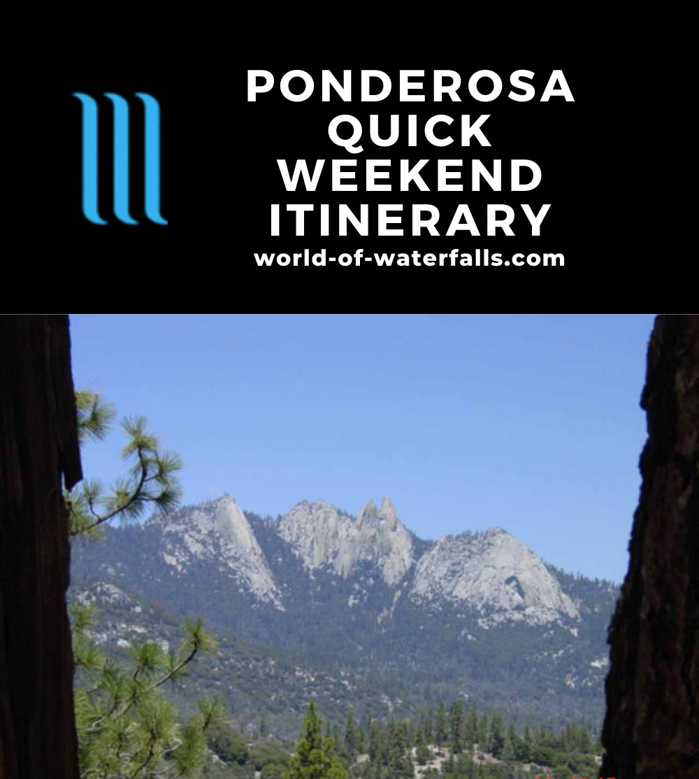 Ponderosa Quick Weekend Itinerary