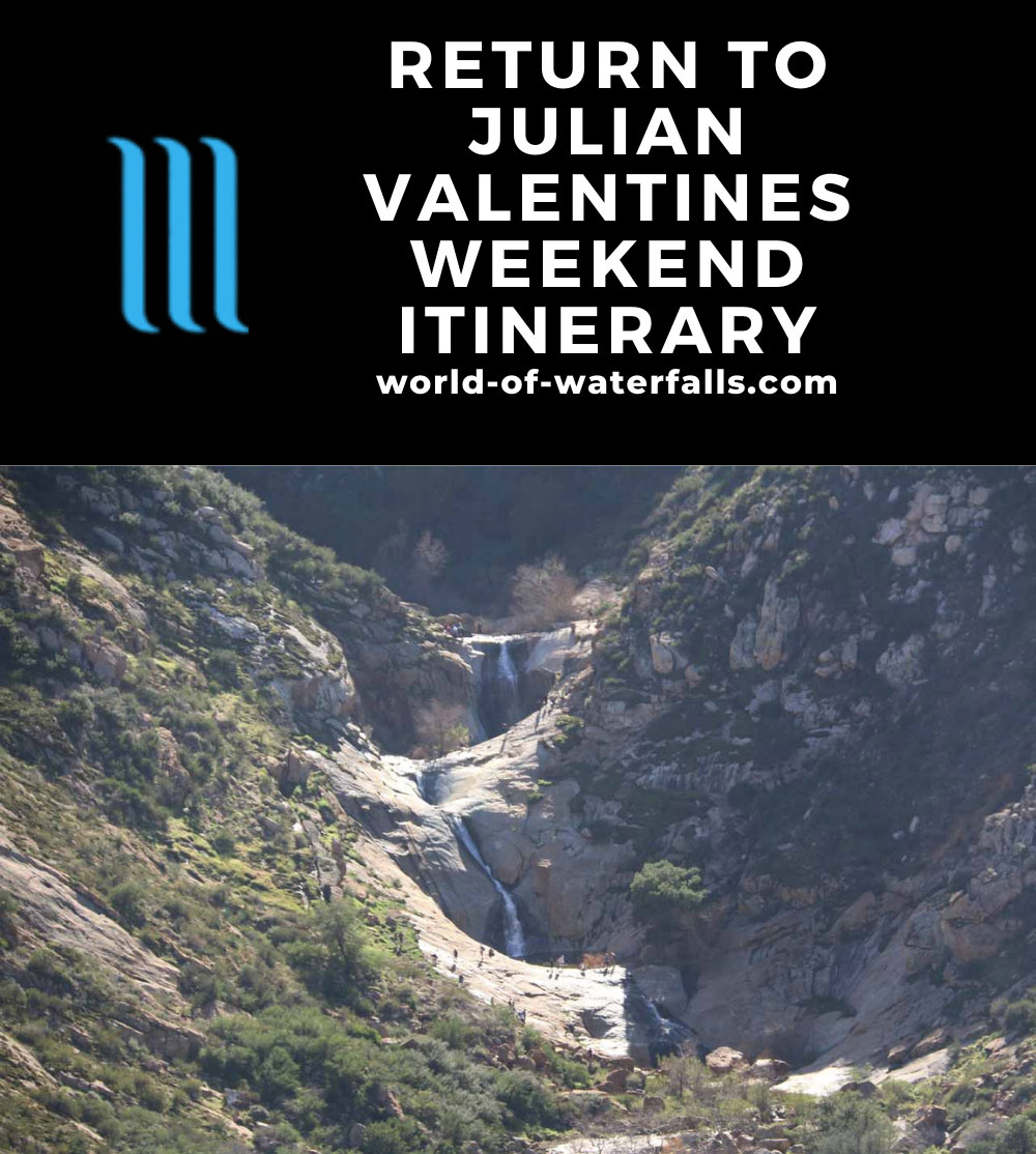 Return to Julian Valentines Day Weekend Itinerary