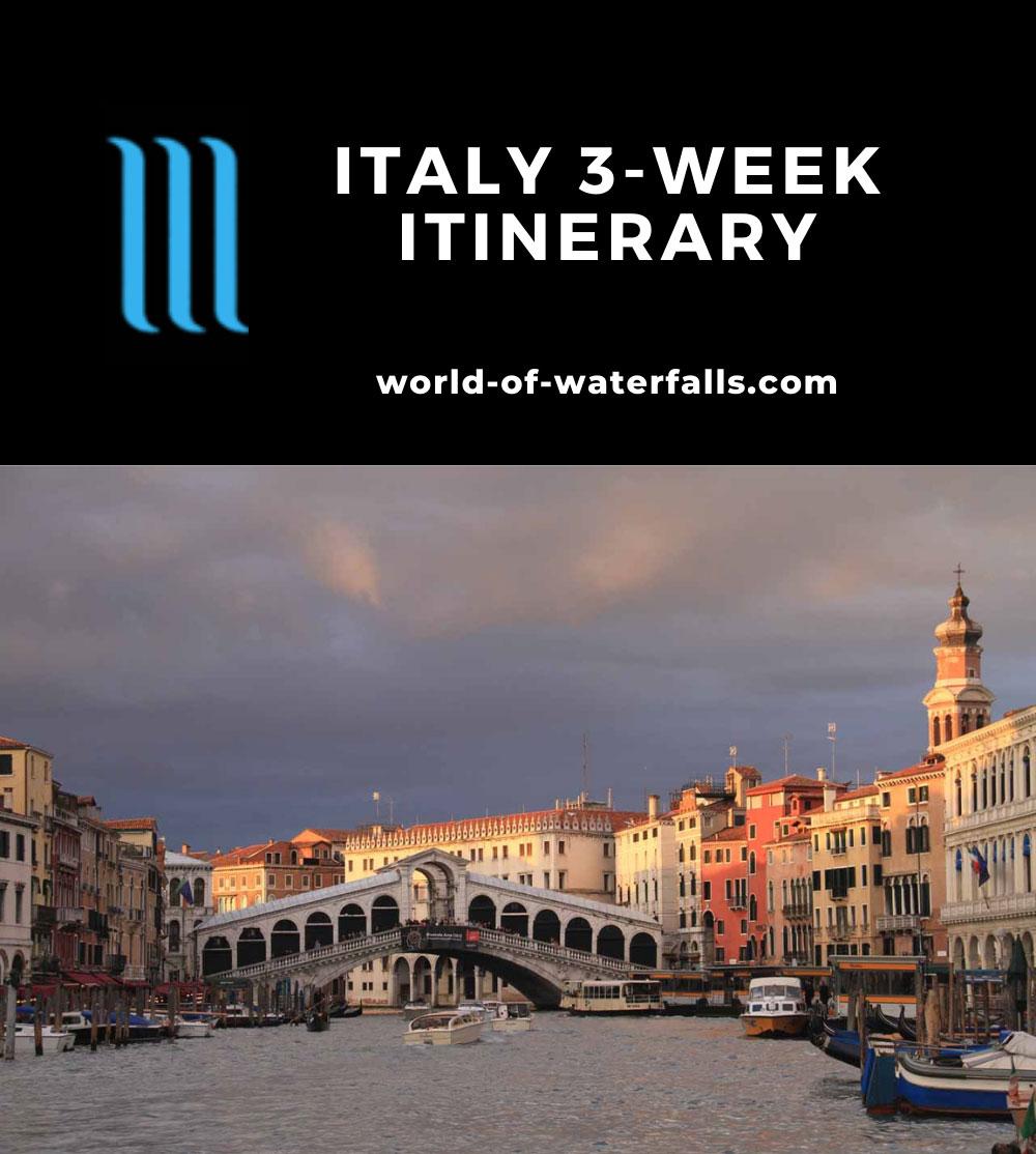 Italy 3-Week Itinerary