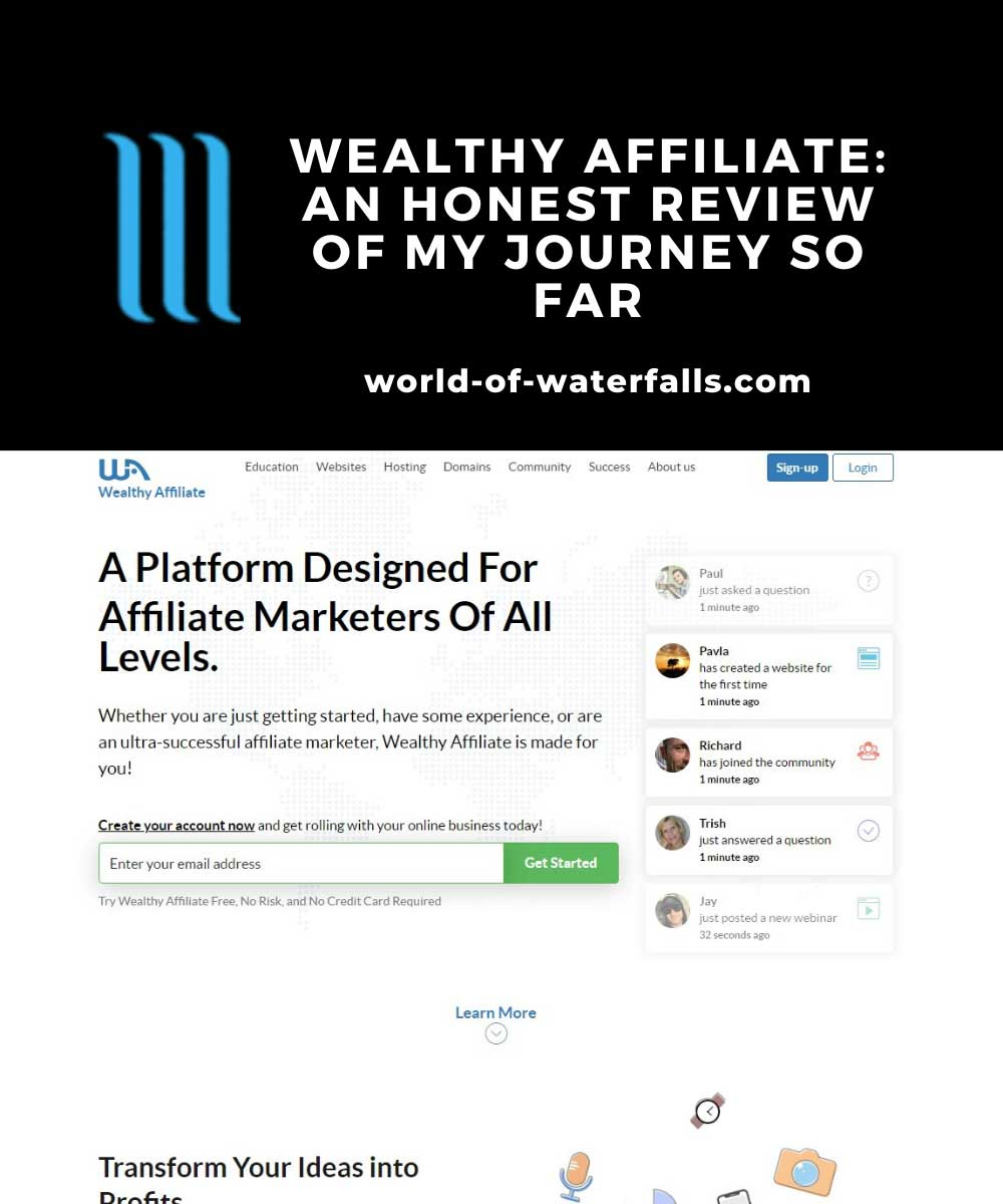 The Wealthy AFfiliate Home Page