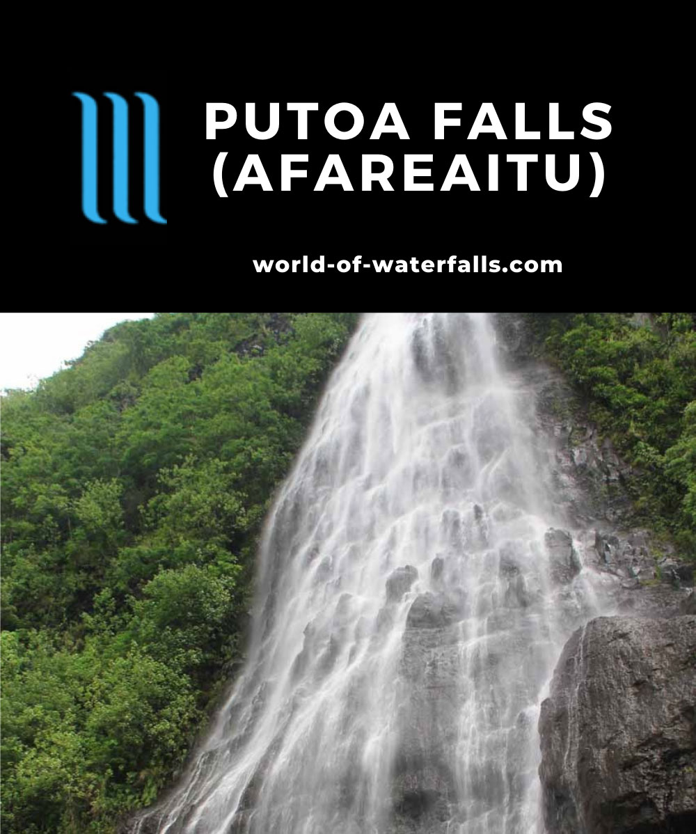 Afareaitu_Waterfalls_039_20121219 - Looking up at Putoa Falls from its base