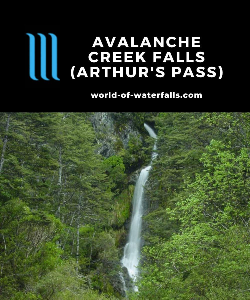 Arthur_Pass_Village_009_11212004 - Avalanche Creek Falls