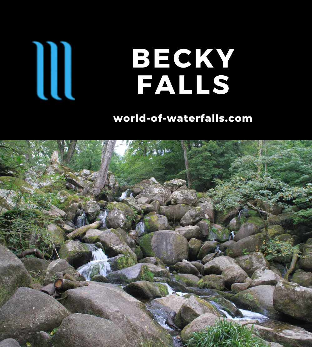 Becky_Falls_042_09062014 - Becky Falls - the main upper drop
