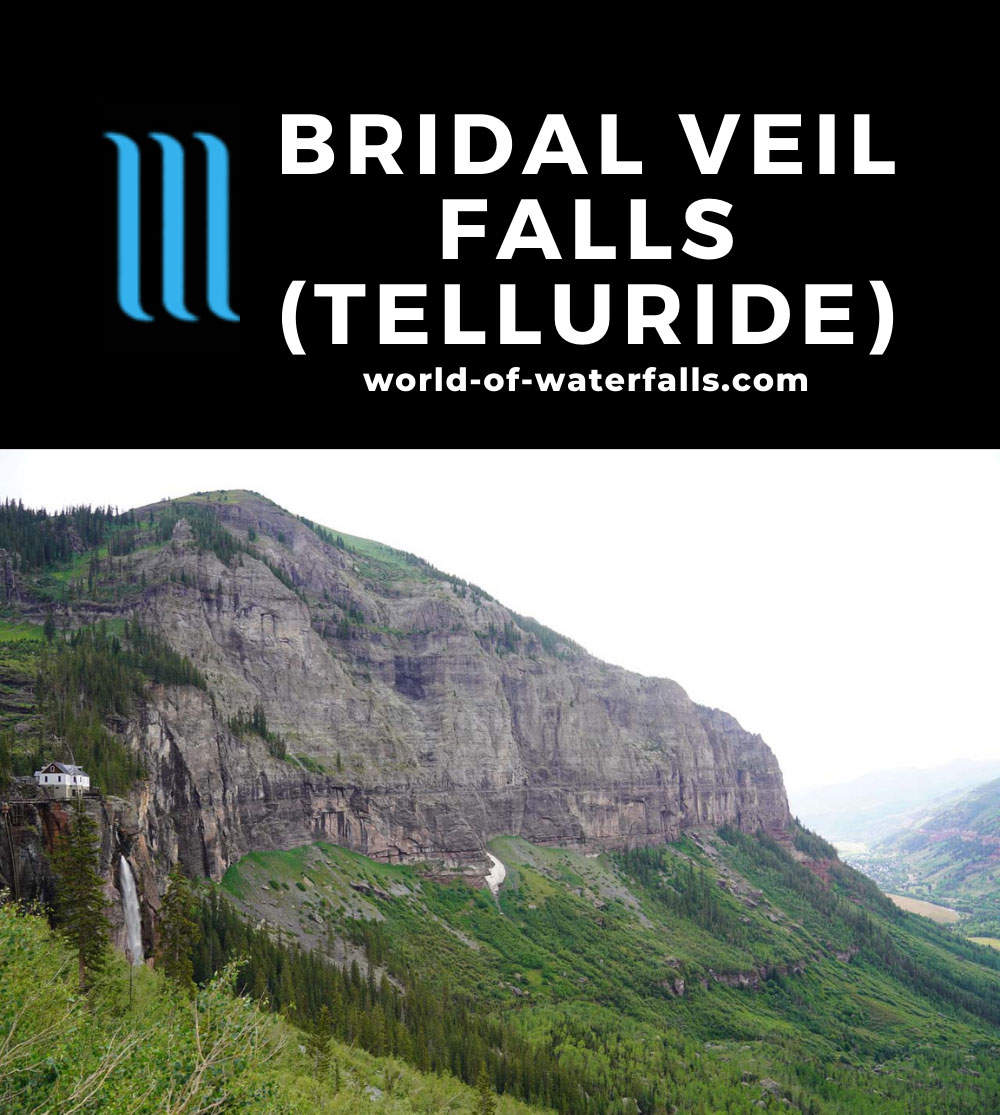 Bridal_Veil_Falls_Telluride_428_07222020 - The context of Bridal Veil Falls on the far left with Telluride on the far right