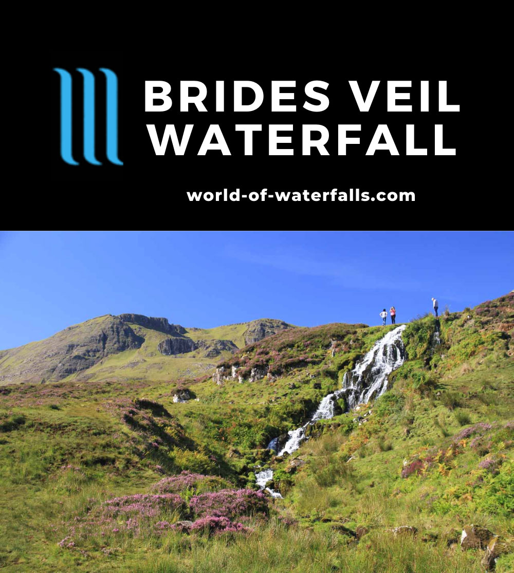 Brides_Veil_008_08262014 - Brides Veil Waterfall with some people standing at its top