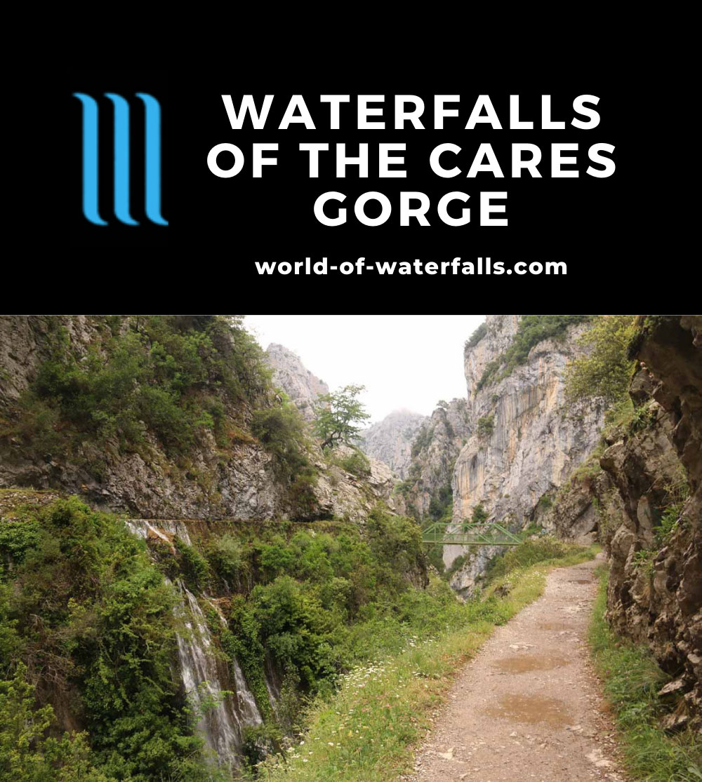 Cares_Gorge_135_06112015 - Context of one of the waterfalls and the Ruta de Cares deep within the Cares Gorge (la Garganta de Cares)