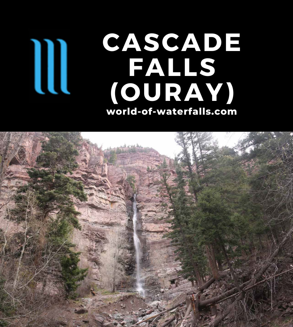 Cascade_Falls_Ouray_023_04172017 - Cascade Falls (actually, the Lower Cascade Falls) in the town of Ouray