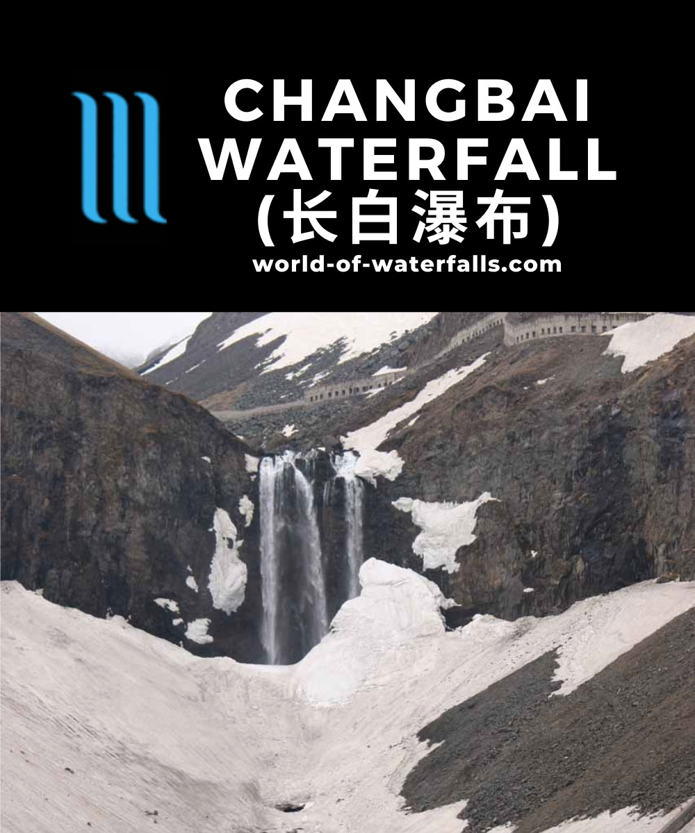 Changbaishan_119_05152009 - The Changbai Waterfall still mostly concealed by snow at its base in May