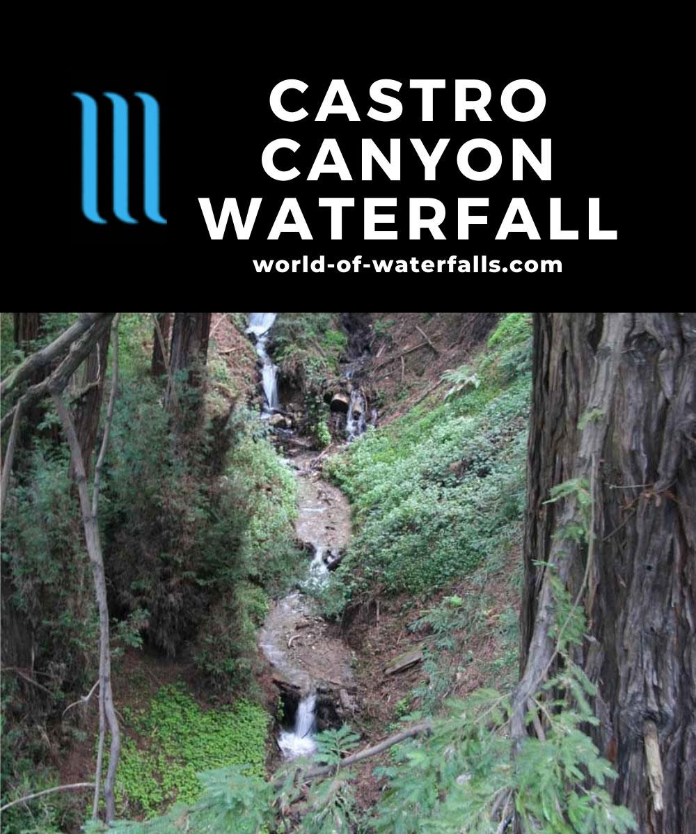 Deetjens_003_03192010 - The Castro Canyon Waterfall as seen from Hwy 1 by the Deetjen's Big Sur Inn Property