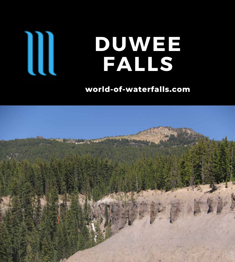 Duwee_Falls_010_07152016 - Context of Duwee Falls and the rim of Mt Mazama in the distance