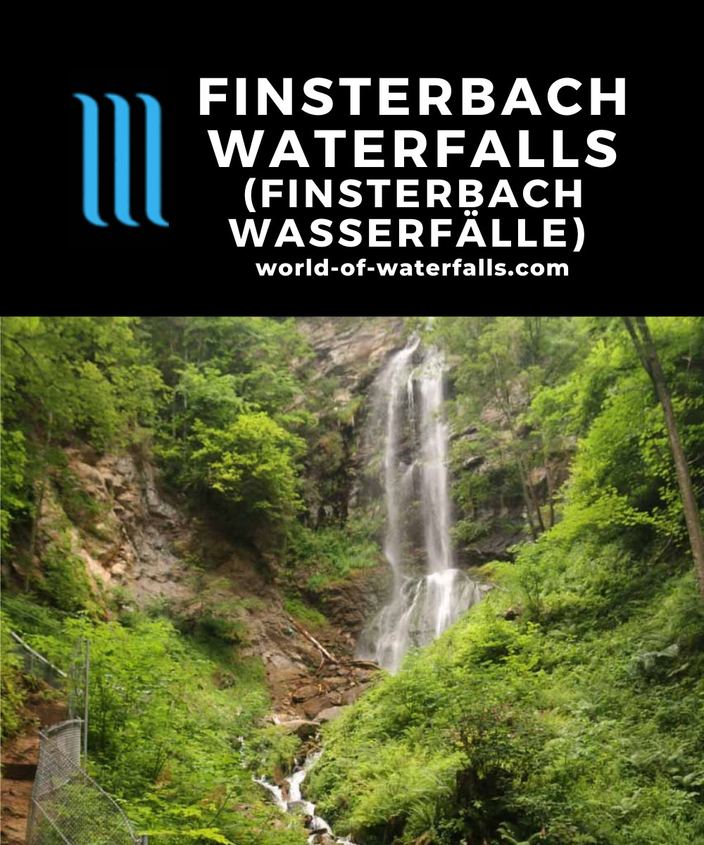 Finsterbach_Waterfalls_140_07112018 - The uppermost of the Finsterbach Waterfalls called Schleierfall