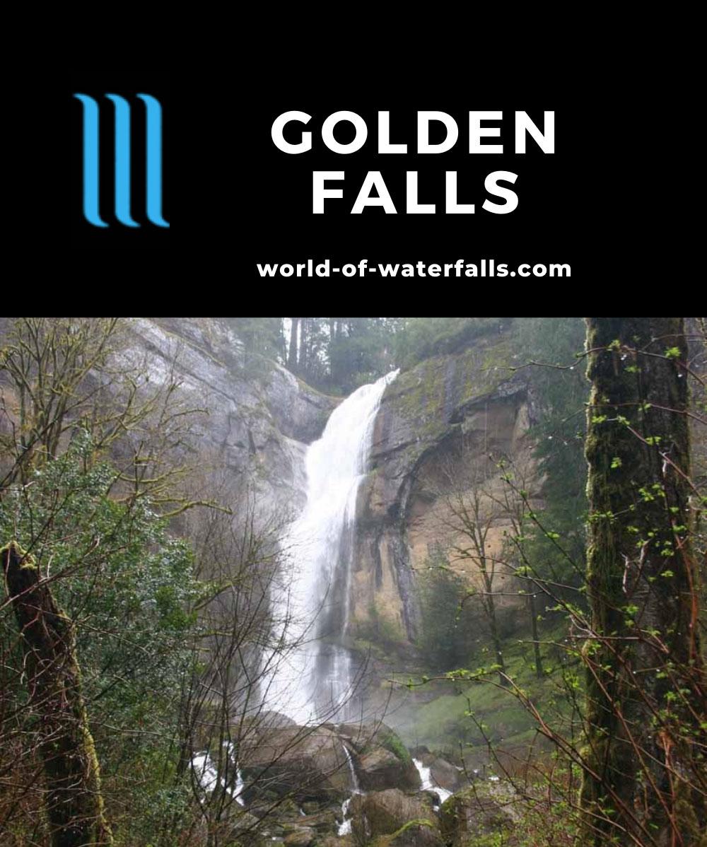 Golden_Falls_006_04022009 - Golden Falls in high flow during a rain storm