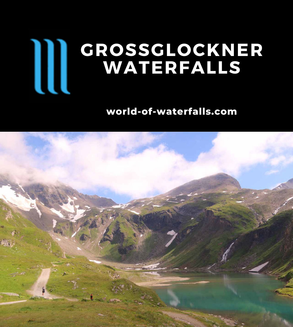 Grossglockner_148_07122018 - Looking towards a cirque by the Grossglockner High Alpine Road containing a couple of waterfalls where one of them might be the Nassfeld Waterfall