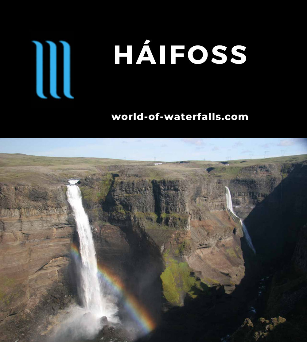 Haifoss_012_07082007 - Háifoss and bold rainbow with Granni
