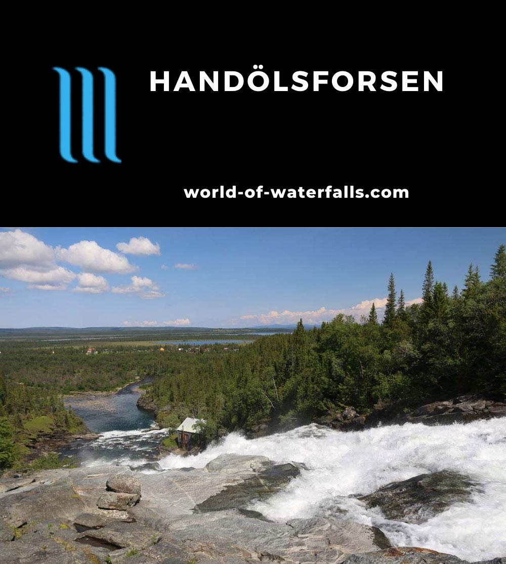Handolsforsen_050_07122019 - Looking down over the run of the main cascade on Handölsforsen