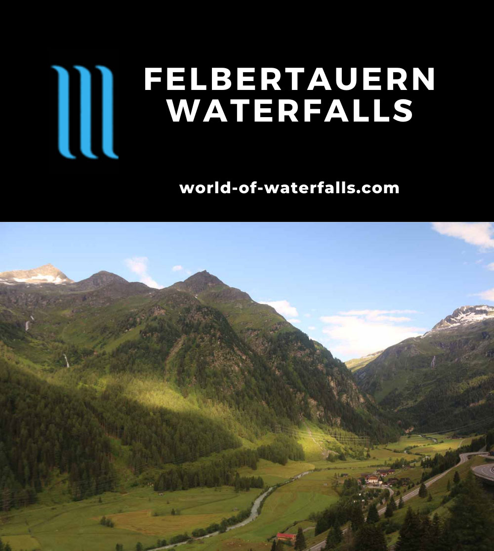 Hohe_Tauern_025_07152018 - The waterfall-laced scenery around the Gschlosstal Valley at the Felbertauern Tunnel
