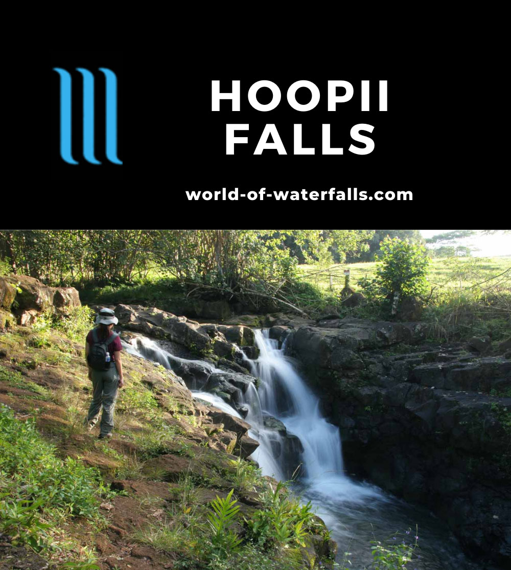 Hoopii_Falls_015_12222006 - Julie checking out the Upper Ho'opi'i Falls
