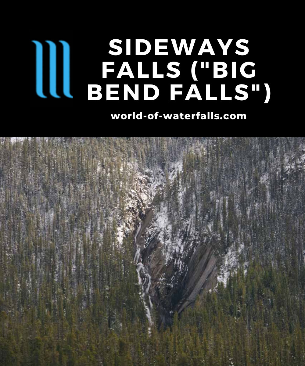 Icefields_Parkway_387_09212010 - Full context of the 'Sideways Falls' as seen from a pullout off the Icefields Parkway