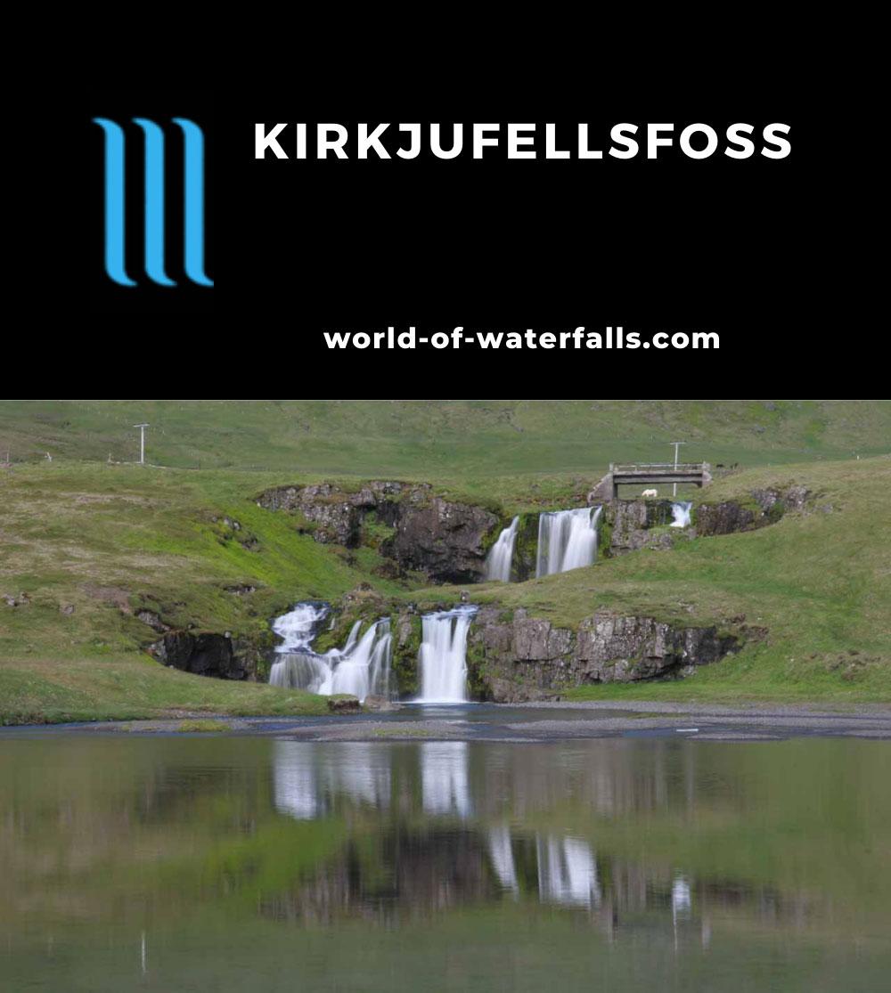 Kirkjufellsfoss_016_06232007 - Frontal view of Kirkjufellsfoss