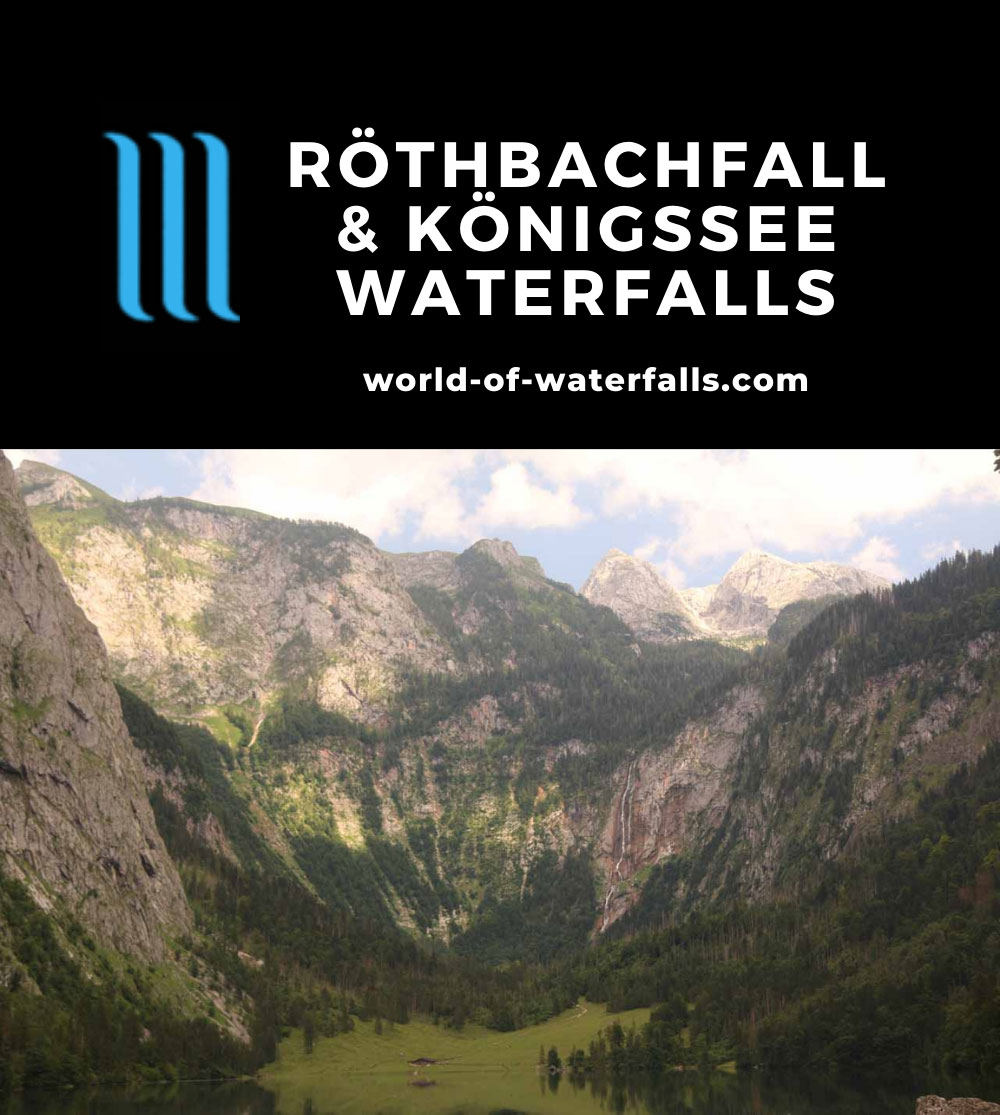 Konigssee_186_07012018 - Röthbachfall tumbling over the far side of Obersee in Berchtesdagen National Park