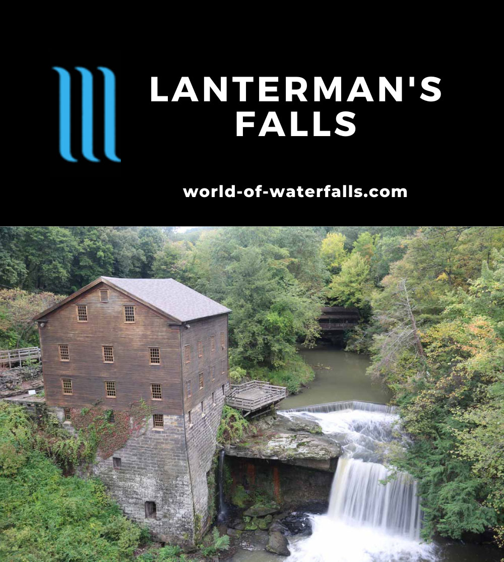 Lanternmans_Falls_097_10042015 - Lanterman's Falls with Lanterman's Mill and the Covered Bridge