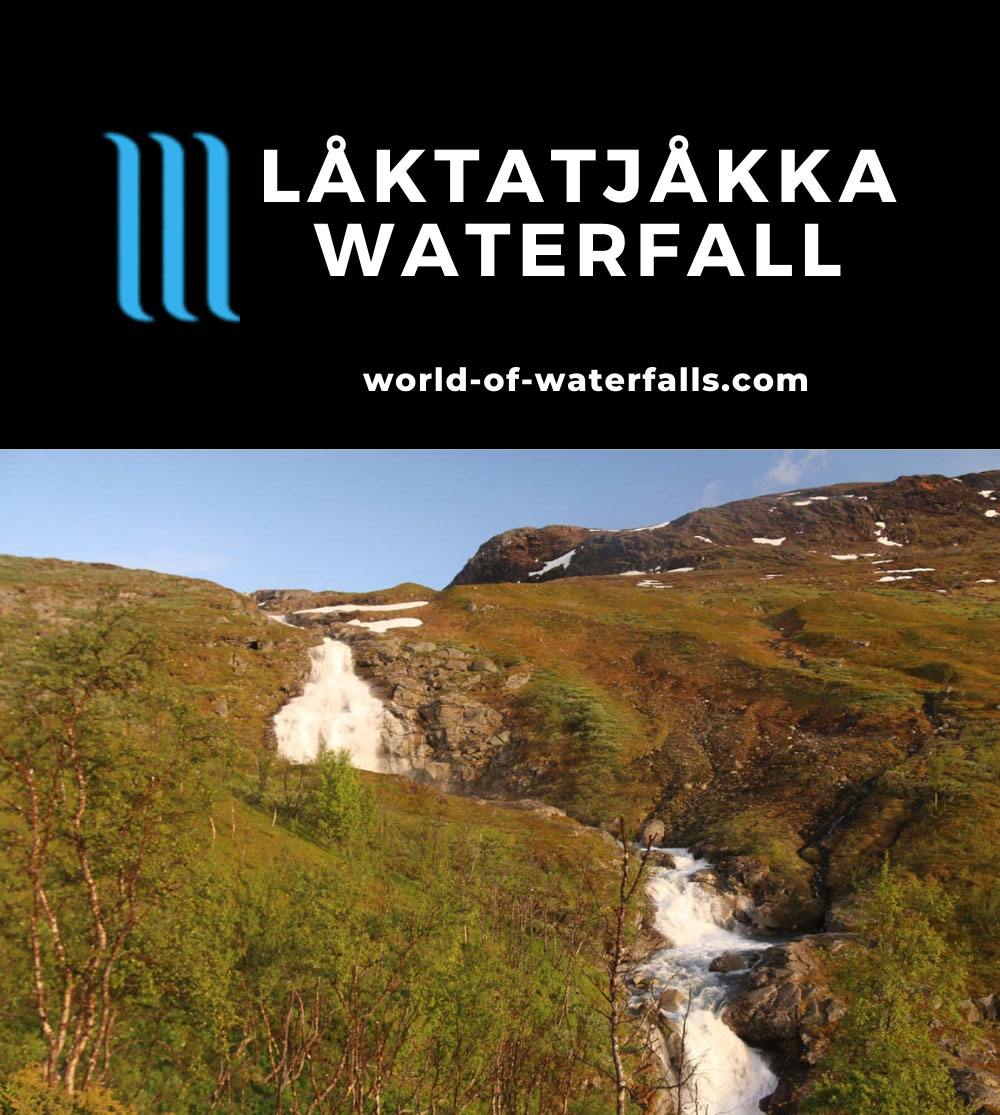 Lappland_159_07072019 - The Loktajohka Waterfall as seen from a hill while swarmed by lots of mosquitos