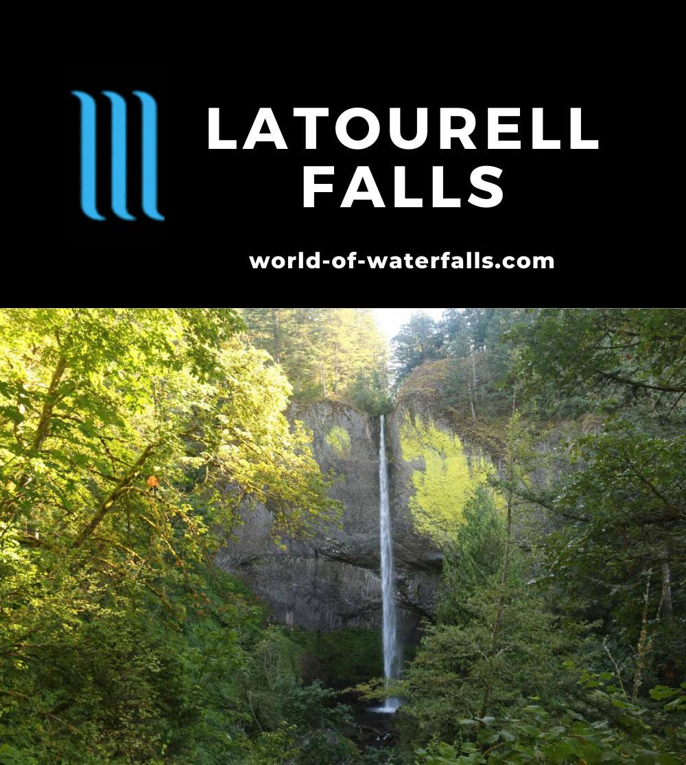 Latourell_Falls_17_059_08162017 - Latourell Falls in low late Summer flow