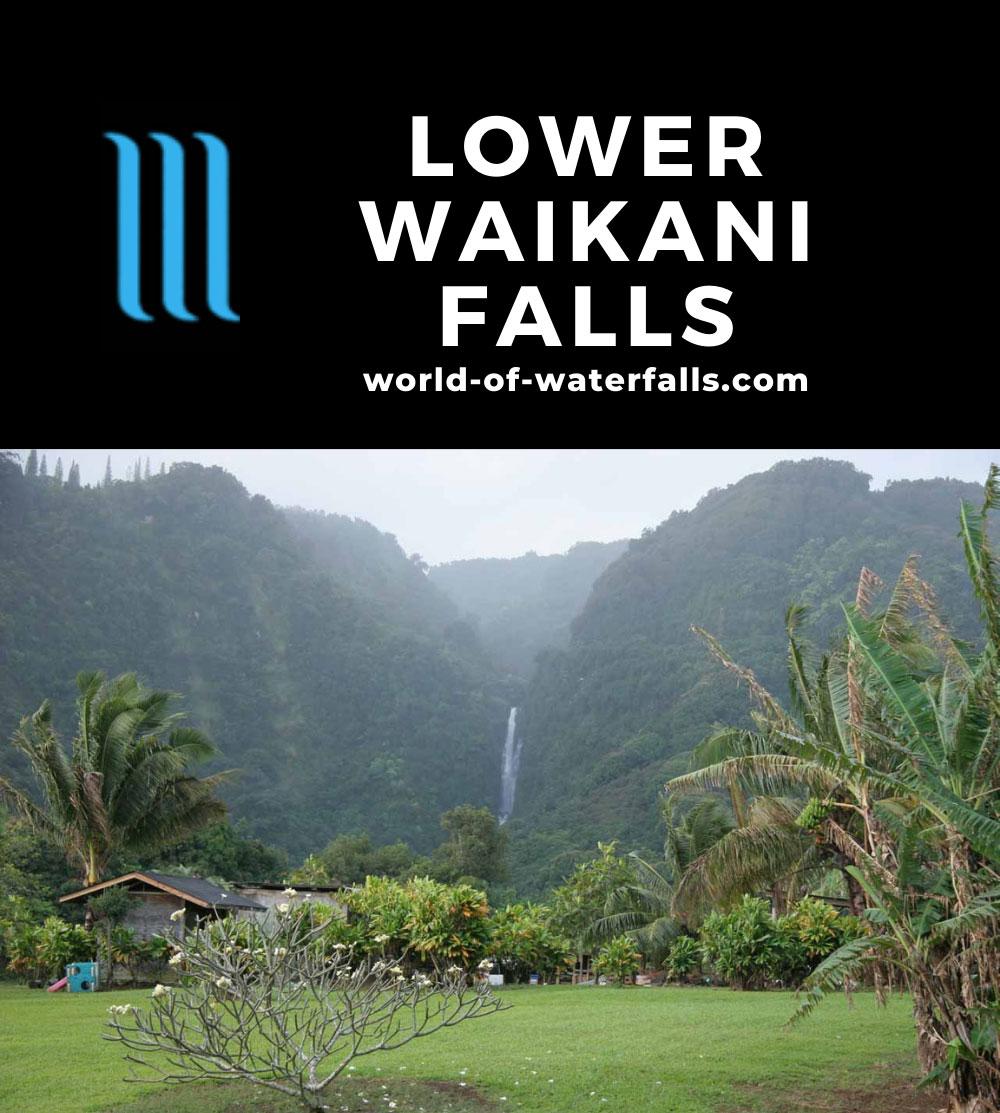 Lower_Waikani_Falls_004_02232007 - Lower Waikani Falls seen from the road through the Wailua Settlement