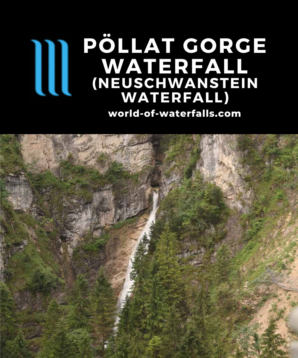 Ludwigs_Castles_219_06252018 - This was the most satisfying picture we have of the Poellat Gorge Waterfall and Marienbrucke though it involved sneaking in such a shot from the window of a gift shop