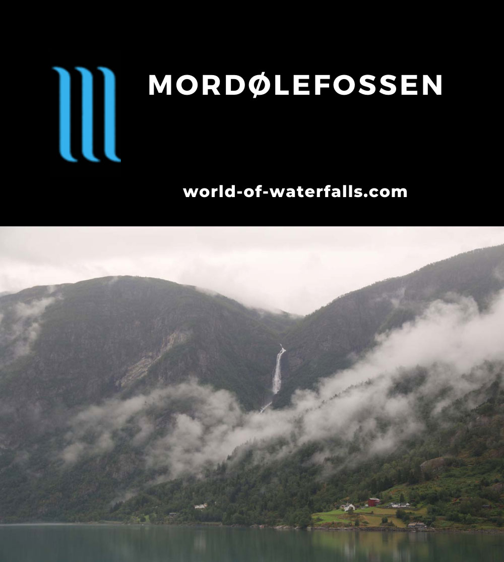 Mordolefossen_031_07212019 - Full context of Mordølefossen as seen across Lusterfjord in a brief lull on a bad weather day in July 2019