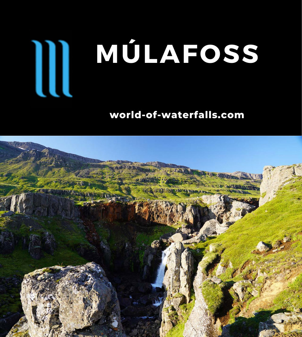 Mulafoss_040_08092021 - The main tier of Mulafoss (Múlafoss)