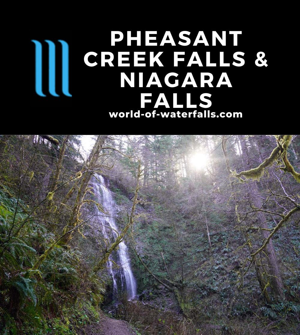 Niagara_and_Pheasant_Creek_Falls_043_04082021 - Niagara Falls or Niagara Creek Falls seen against the rising morning sun