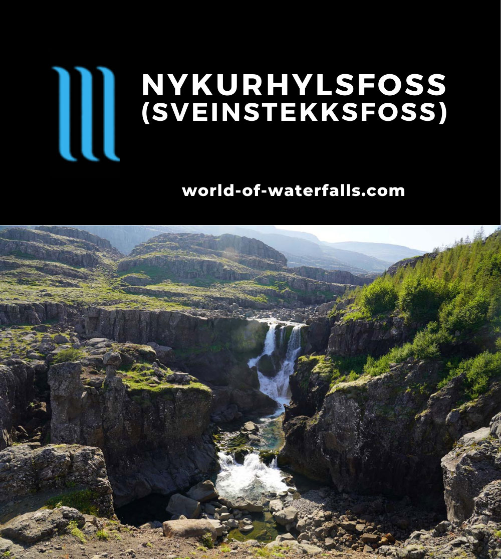 Nykurhylsfoss_041_08092021 - Nykurhylsfoss (also known as Sveinsstekksfoss or Fossárdafoss)