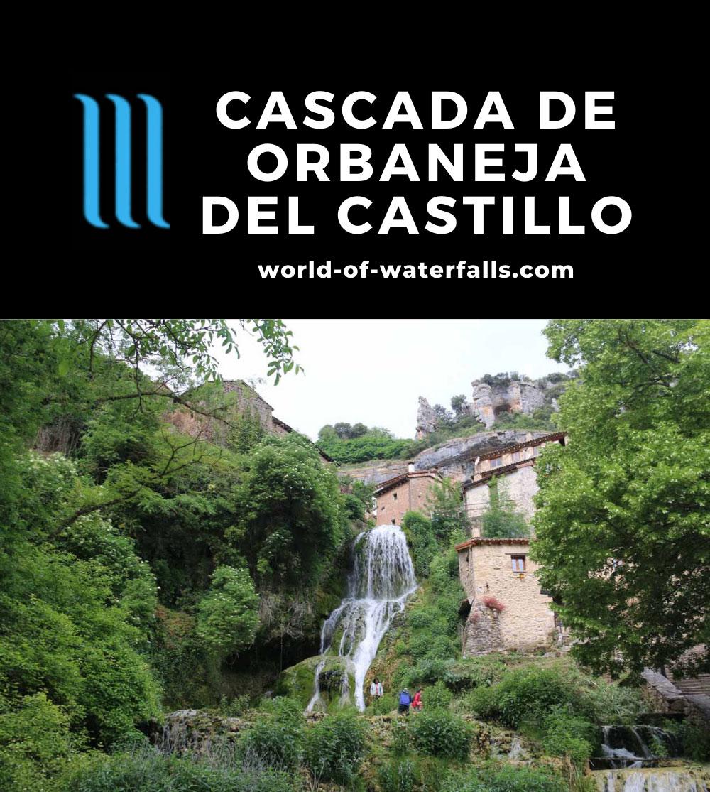 Orbaneja_del_Castillo_063_06132015 - Context of the Cascada de Orbaneja del Castillo surrounded by the town of the same name
