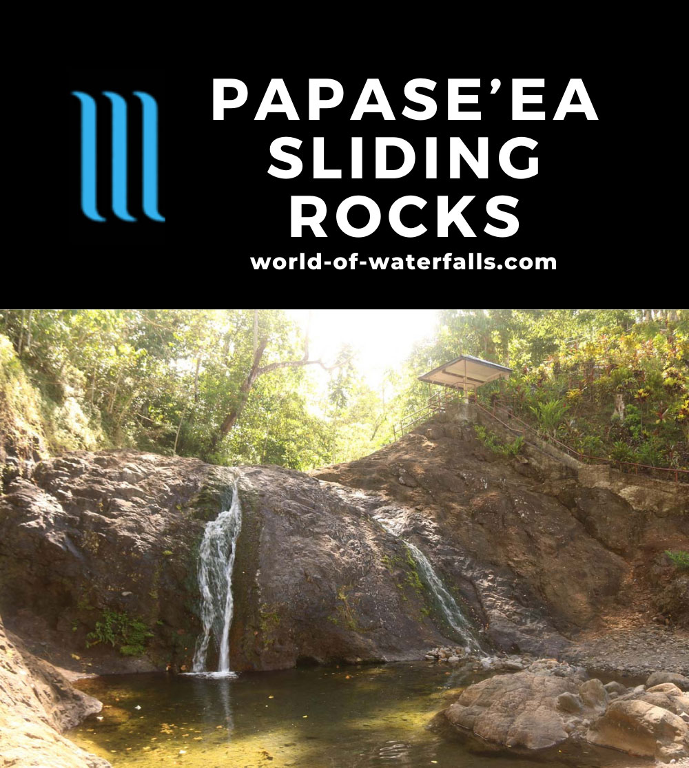 Papaseea_Sliding_Rocks_048_11132019 - The waterfalls spilling into the so-called Men's Pool at the Papase'ea Sliding Rocks