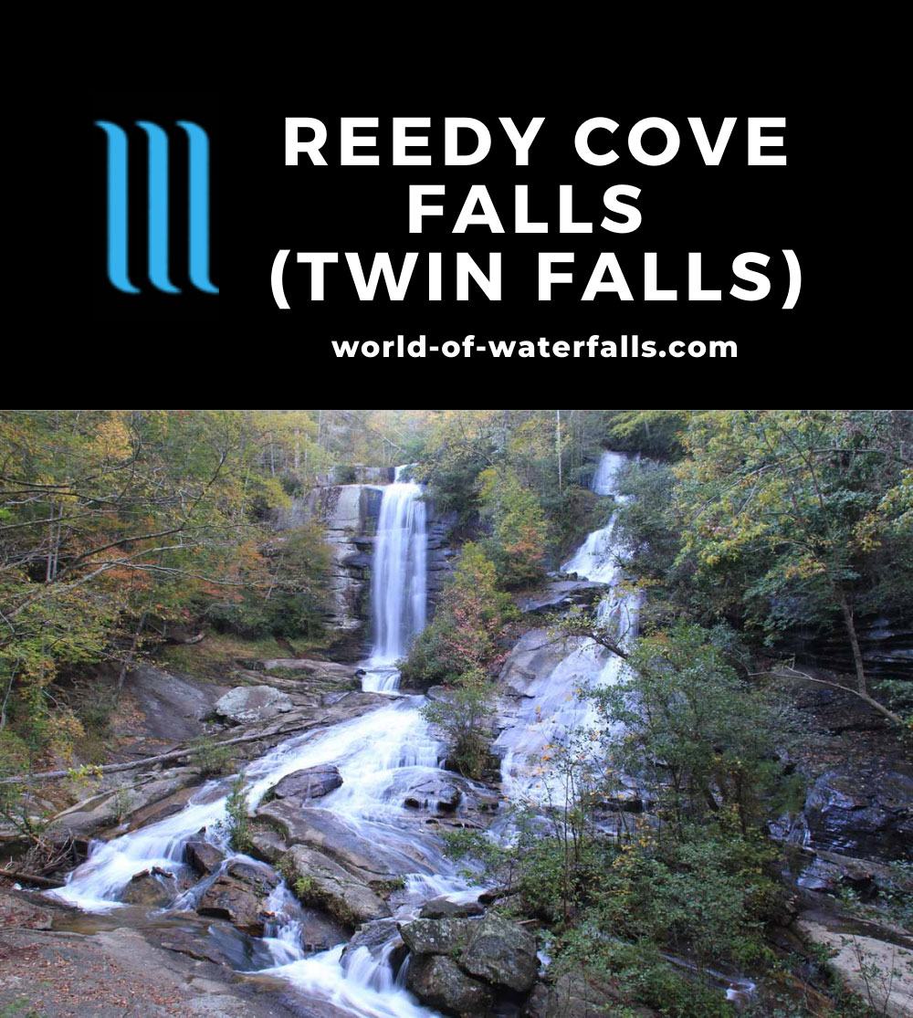 Reedy_Cove_Falls_009_20121017 - Reedy Cove Falls (Twin Falls or Estatoe Falls or Rock Falls)