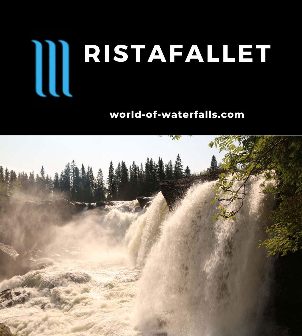 Ristafallet_017_07122019 - Looking across the impressive Ristafallet in the morning light