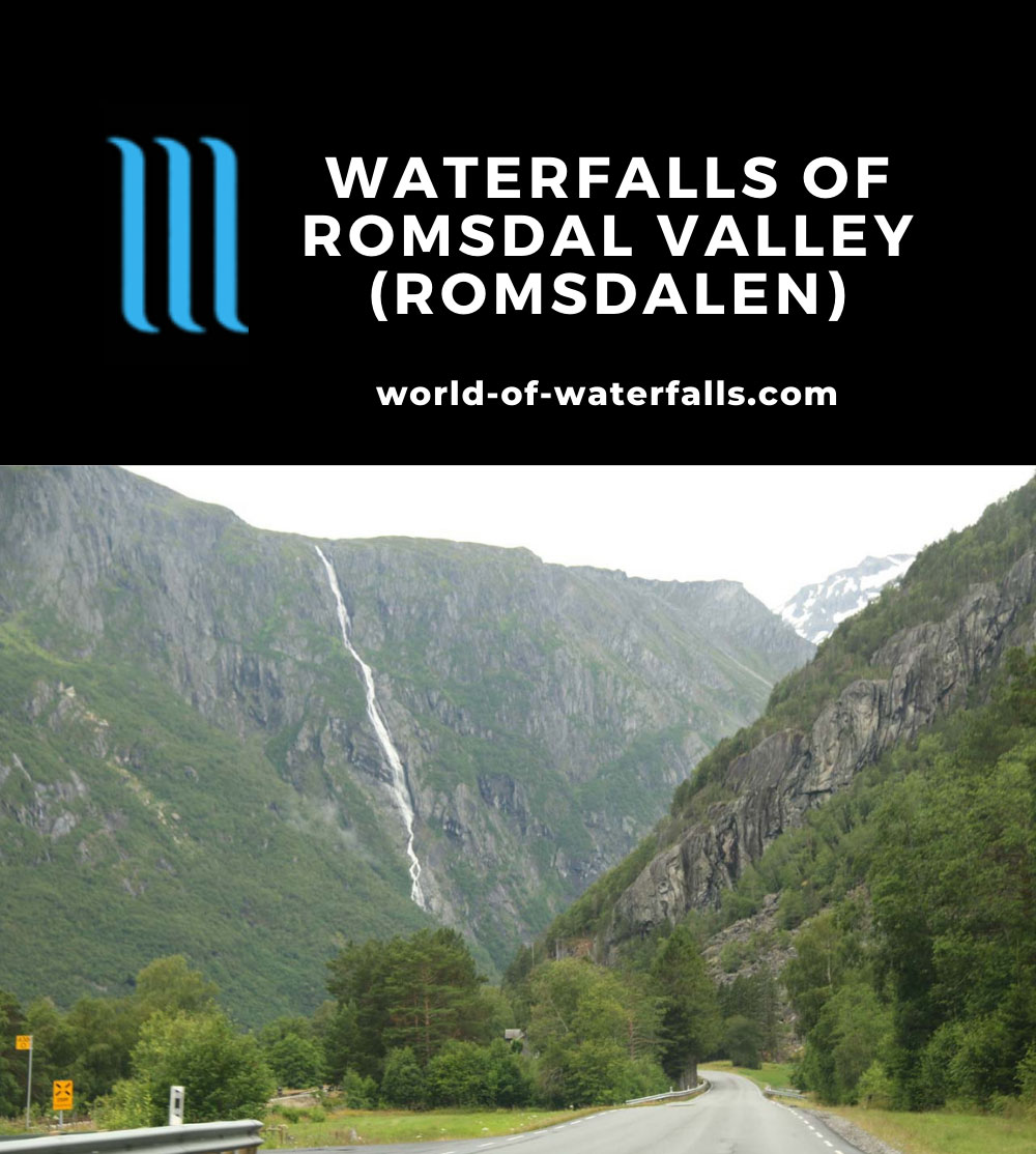 Romsdalen_243_07162019 - Ølmåfossen, which very well could be the tallest and most prominent of the waterfalls in Romsdal Valley that was not adversely affected by hydroelectric power plants