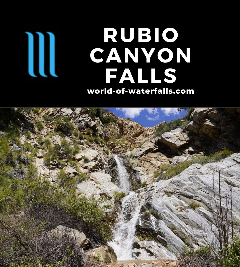 Rubio_Canyon_074_04142020 - Ribbon Rock Falls and Moss Grotto Falls - the most accessible of the Rubio Canyon Waterfalls
