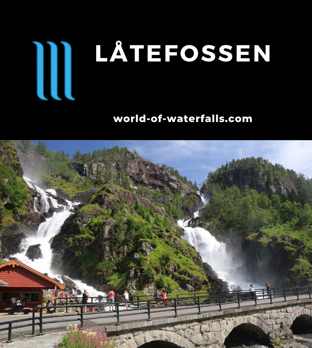Rv13_143_07242019 - Låtefossen seen on a fine day in late July 2019