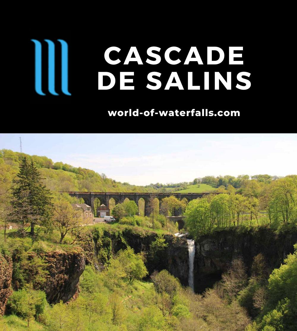 Salins_012_20120511 - Cascade de Salins backed by a historical-looking bridge