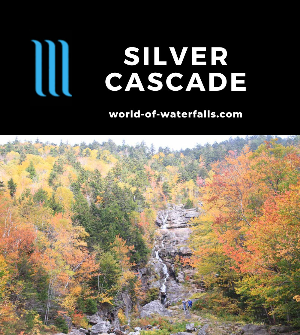 Silver_Cascade_NH_005_10022013 - Silver Cascade surrounded by Autumn foliage near the peak of their color turn