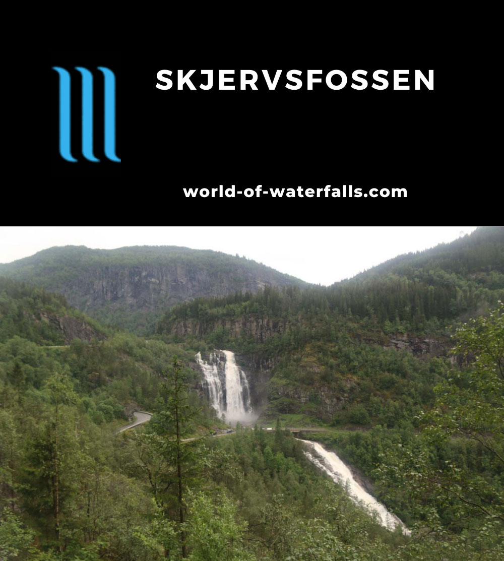Skjervsfossen_021_06252019 - Full contextual view of Skjervsfossen as seen in June 2019